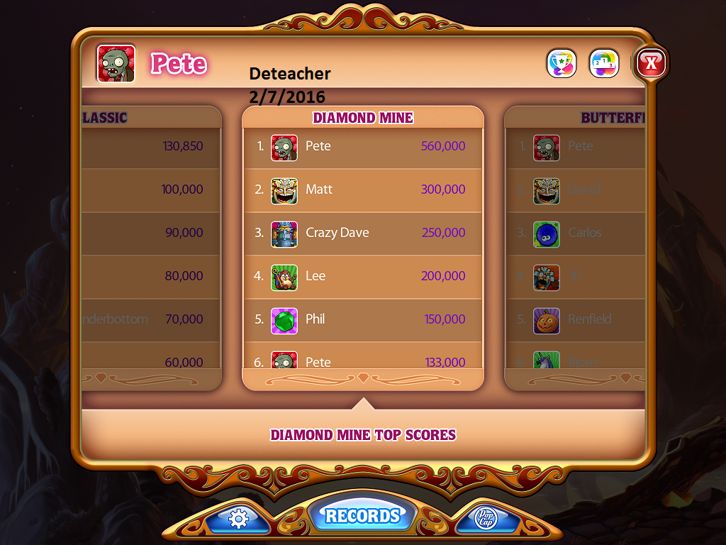 Deteacher: Bejeweled HD [Diamond Mine] (iOS) 560,000 points on 2016-02-07 19:05:46