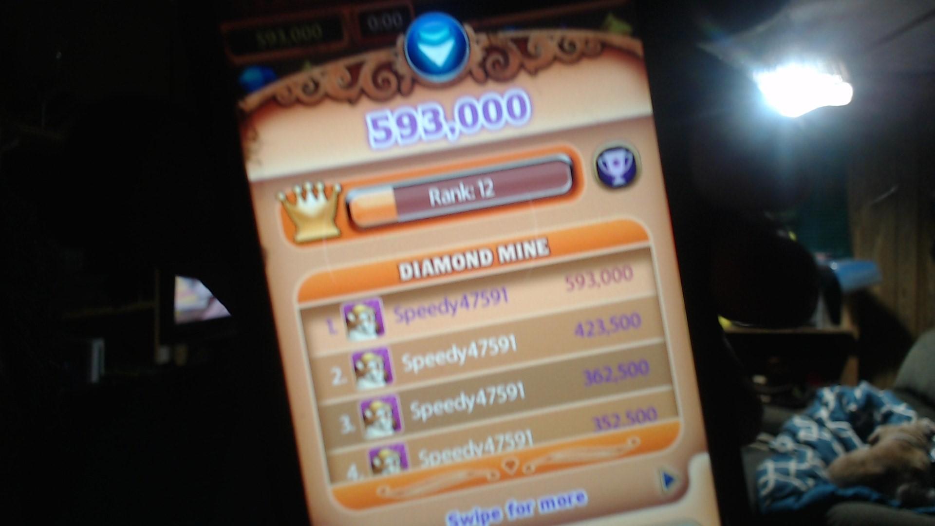 speedy4759123: Bejeweled HD [Diamond Mine] (iOS) 593,000 points on 2019-07-04 07:33:39
