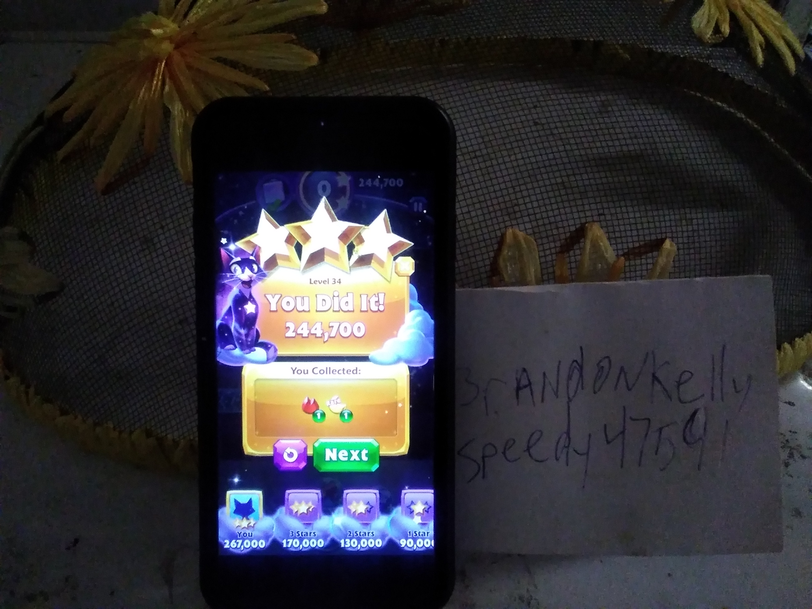 Bejeweled Stars: Level 34: Turn this gem around 244,700 points