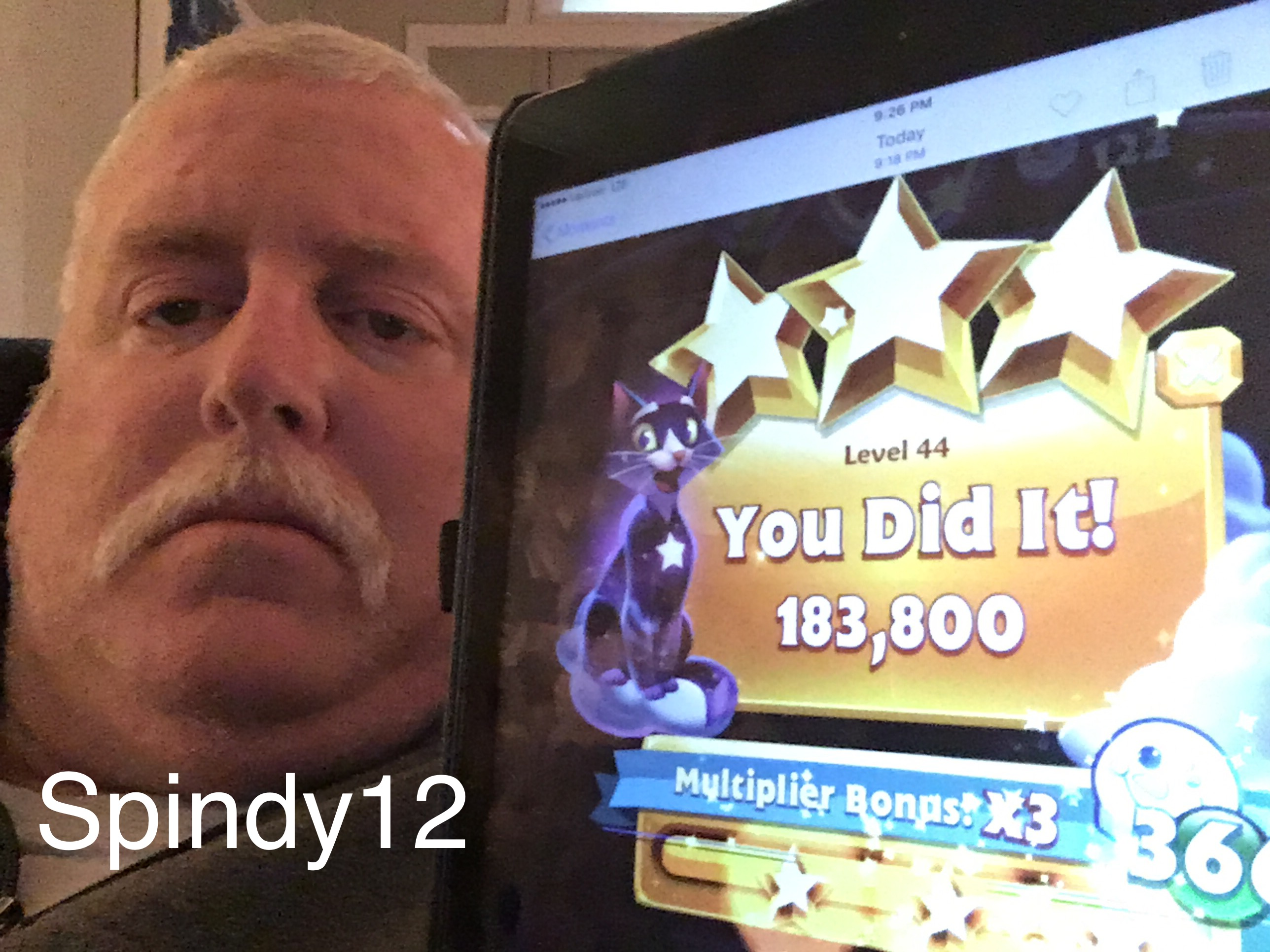 Bejeweled Stars: Level 44: Hard as a rock 183,800 points