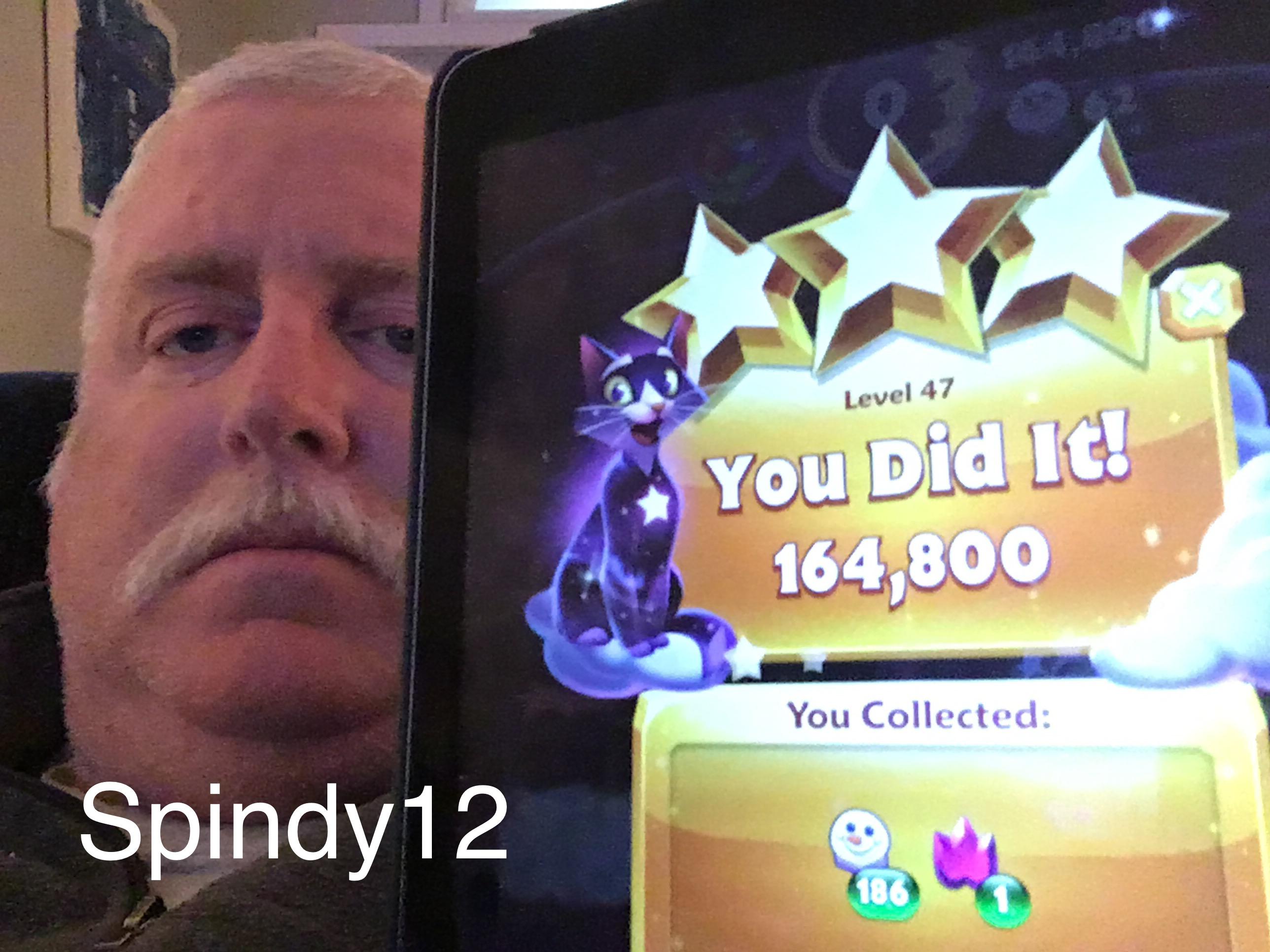 Bejeweled Stars: Level 47: Floating flame gems 164,800 points