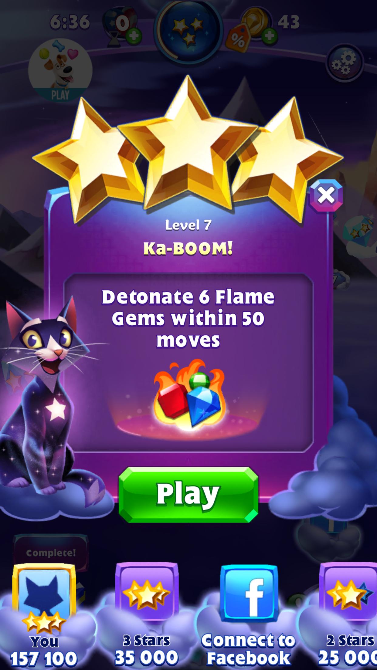Maxwel: Bejeweled Stars: Level 7 - Ka-BOOM! (iOS) 157,100 points on 2016-07-03 14:04:09