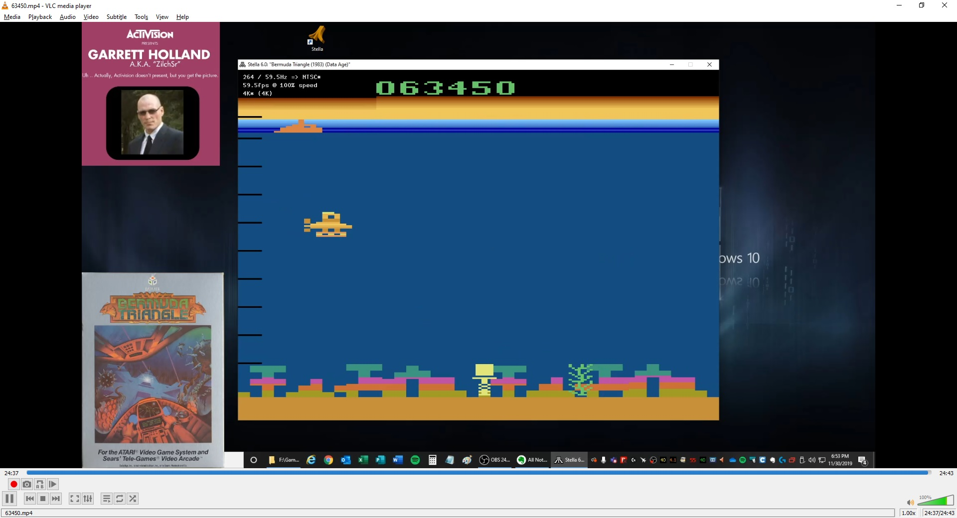 ZilchSr: Bermuda Triangle (Atari 2600 Emulated Novice/B Mode) 63,450 points on 2020-05-07 02:13:45