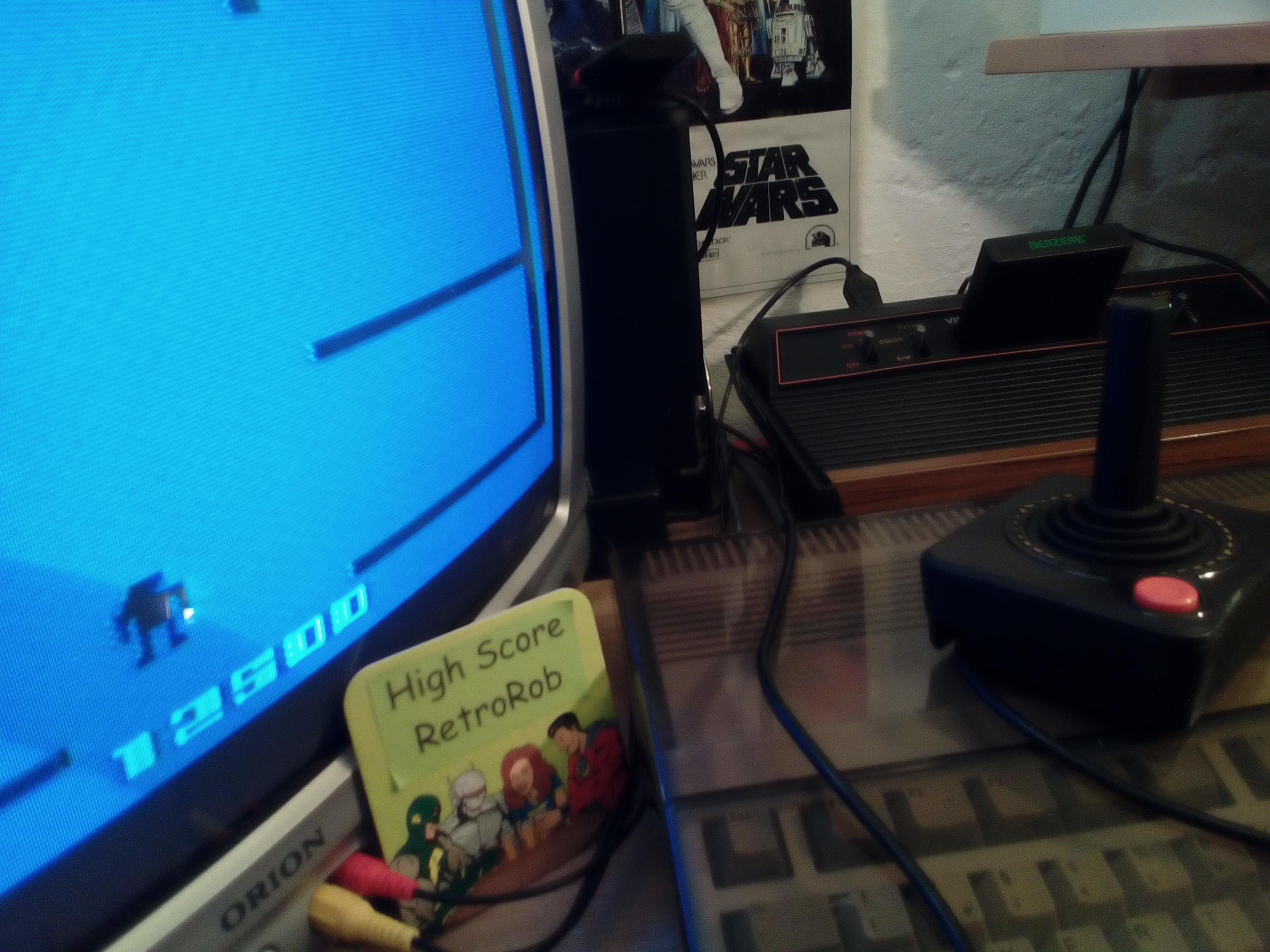 RetroRob: Berzerk: Game 1 (Atari 2600) 12,500 points on 2018-08-12 13:24:00
