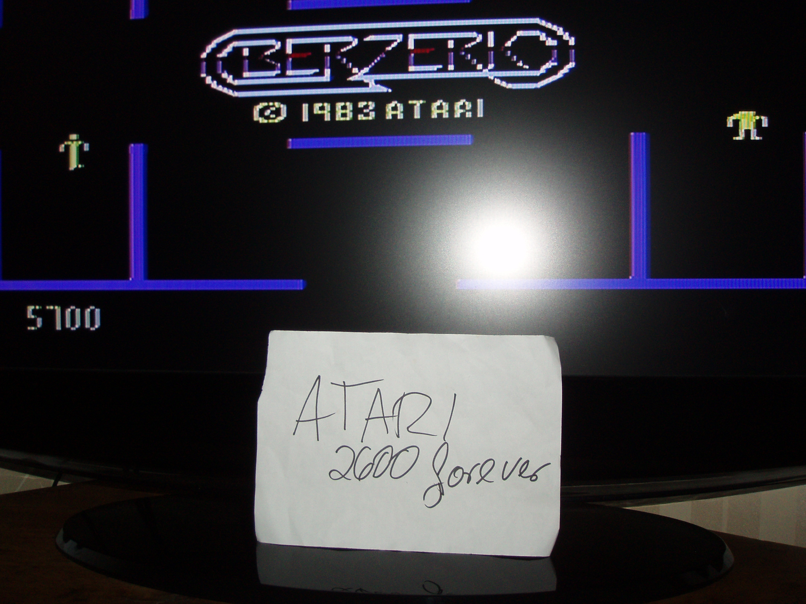 atari2600forever: Berzerk: Game 1 (Atari 5200) 5,700 points on 2018-07-13 03:16:20