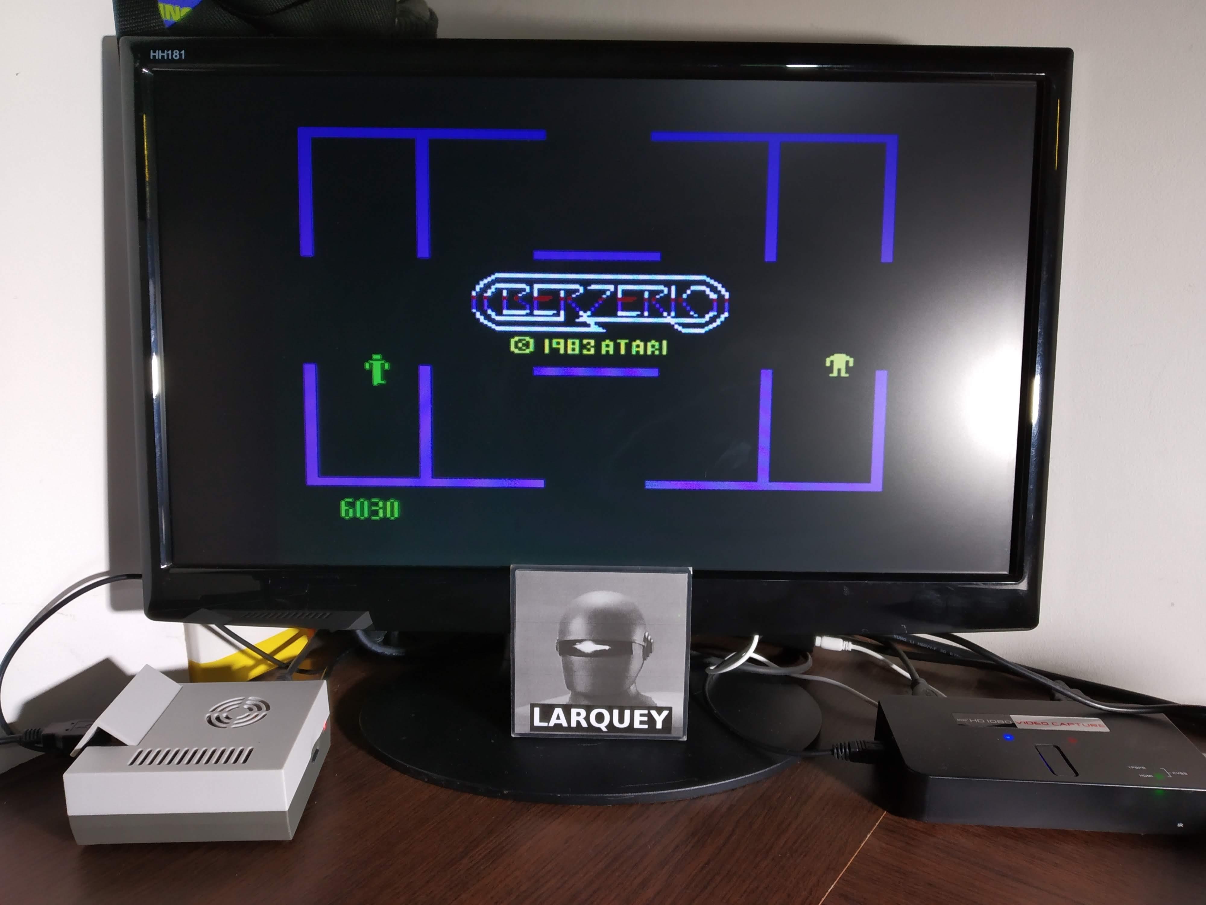 Larquey: Berzerk: Game 1 (Atari 5200 Emulated) 6,030 points on 2019-11-09 03:14:05