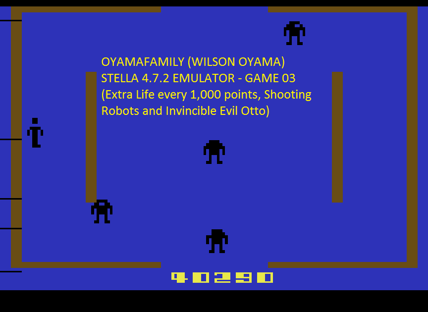 oyamafamily: Berzerk: Game 3 (Atari 2600 Emulated) 40,290 points on 2016-07-05 20:41:42