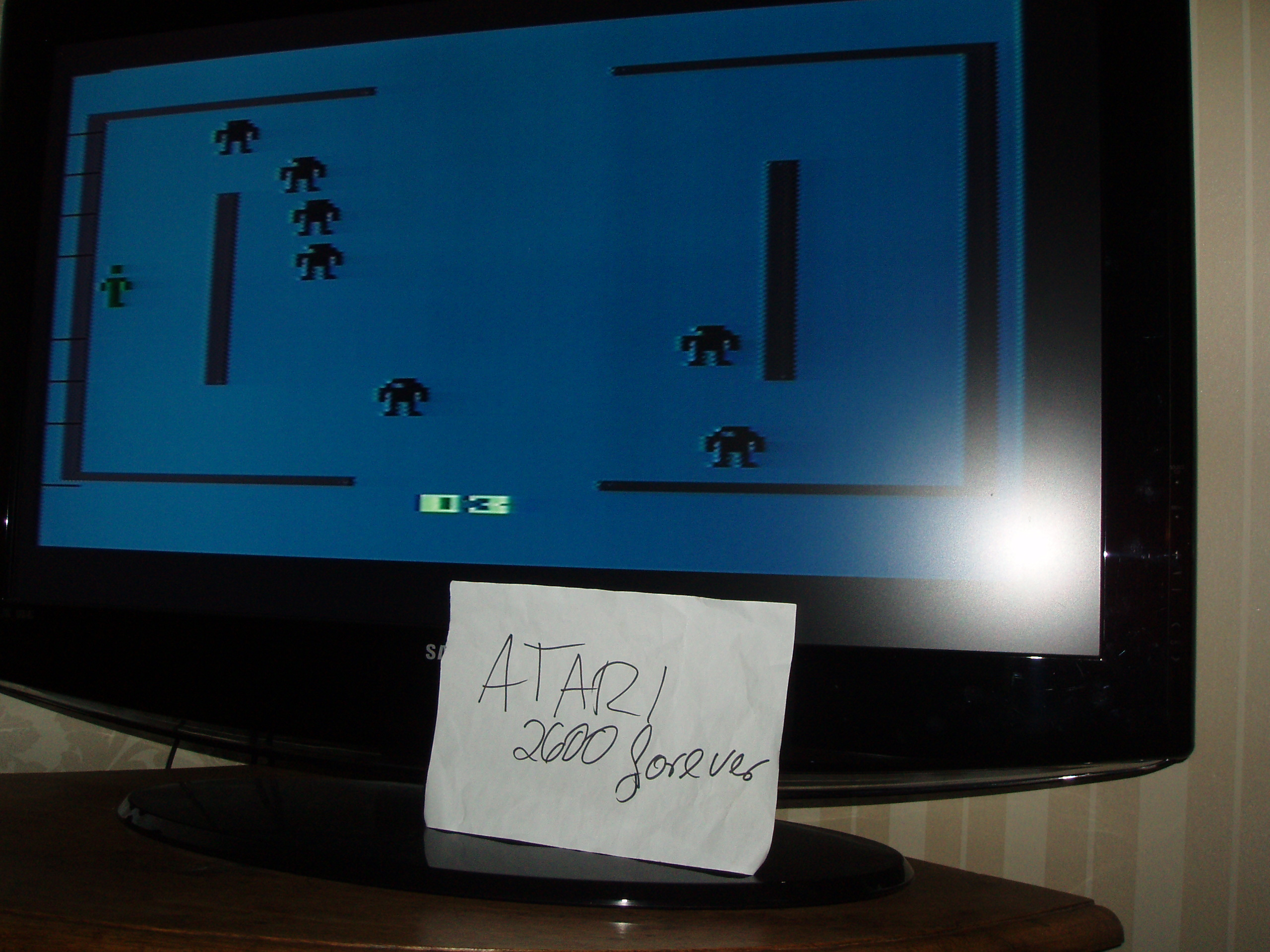 atari2600forever: Berzerk: Game 3 (Atari 2600) 6,420 points on 2019-02-25 03:17:16
