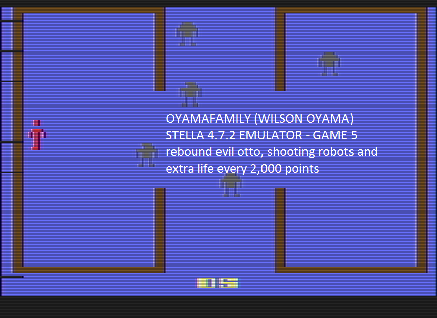 oyamafamily: Berzerk: Game 5 (Atari 2600 Emulated) 13,730 points on 2016-07-11 17:04:41