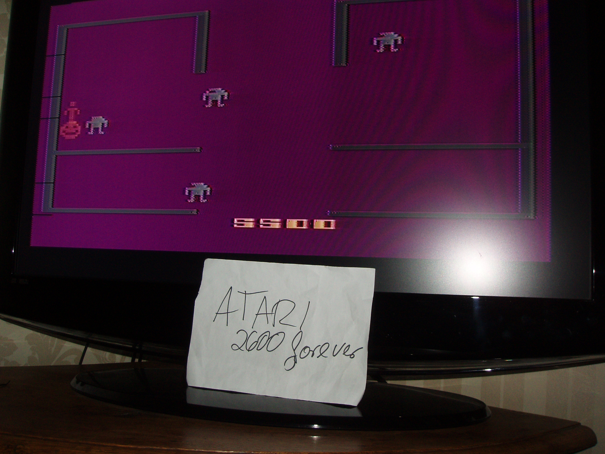 atari2600forever: Berzerk: Game 5 (Atari 2600) 5,500 points on 2019-01-12 05:21:24