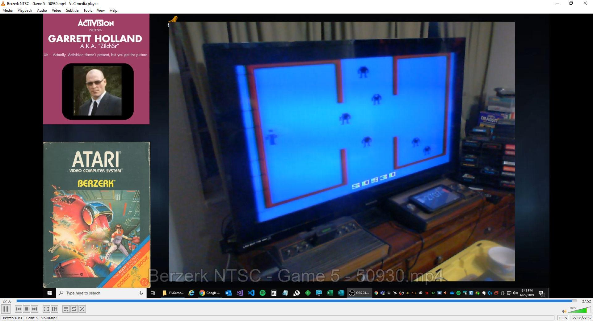 ZilchSr: Berzerk: Game 5 (Atari 2600) 50,930 points on 2019-06-22 21:04:12