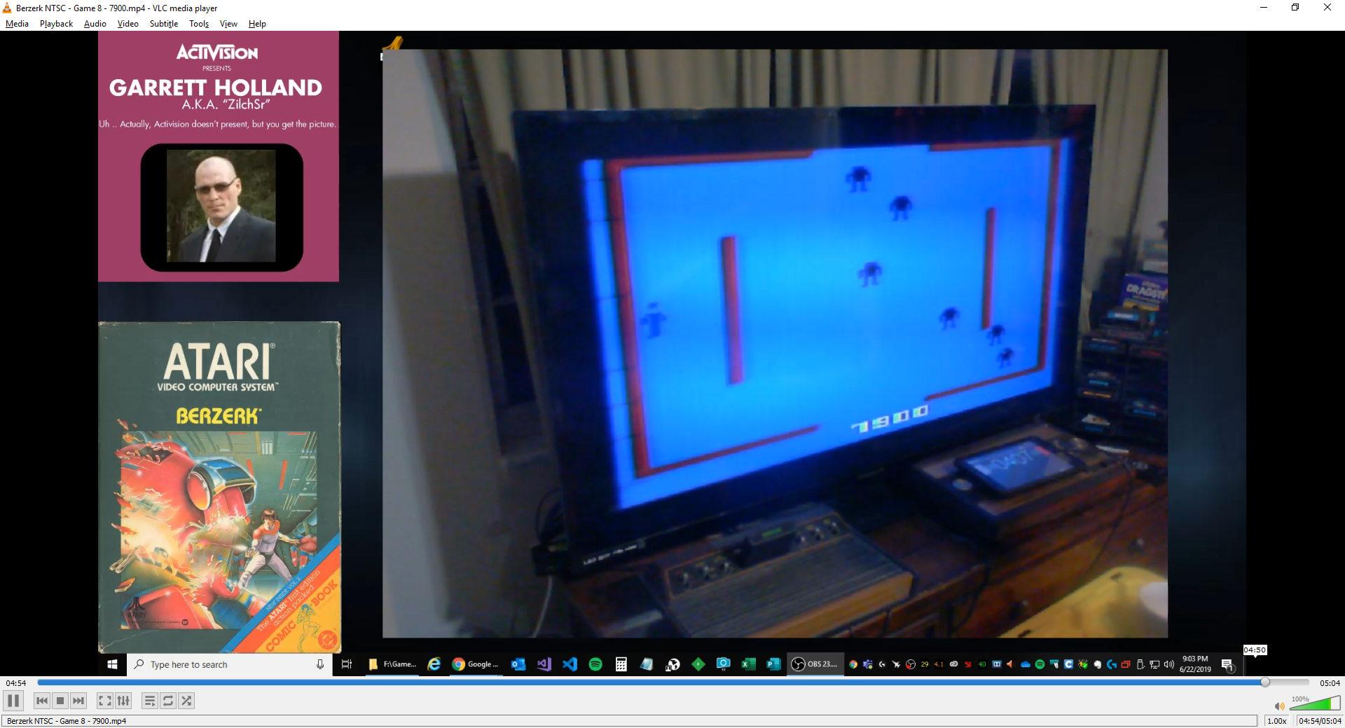 ZilchSr: Berzerk: Game 8 (Atari 2600) 7,900 points on 2019-06-22 21:06:26