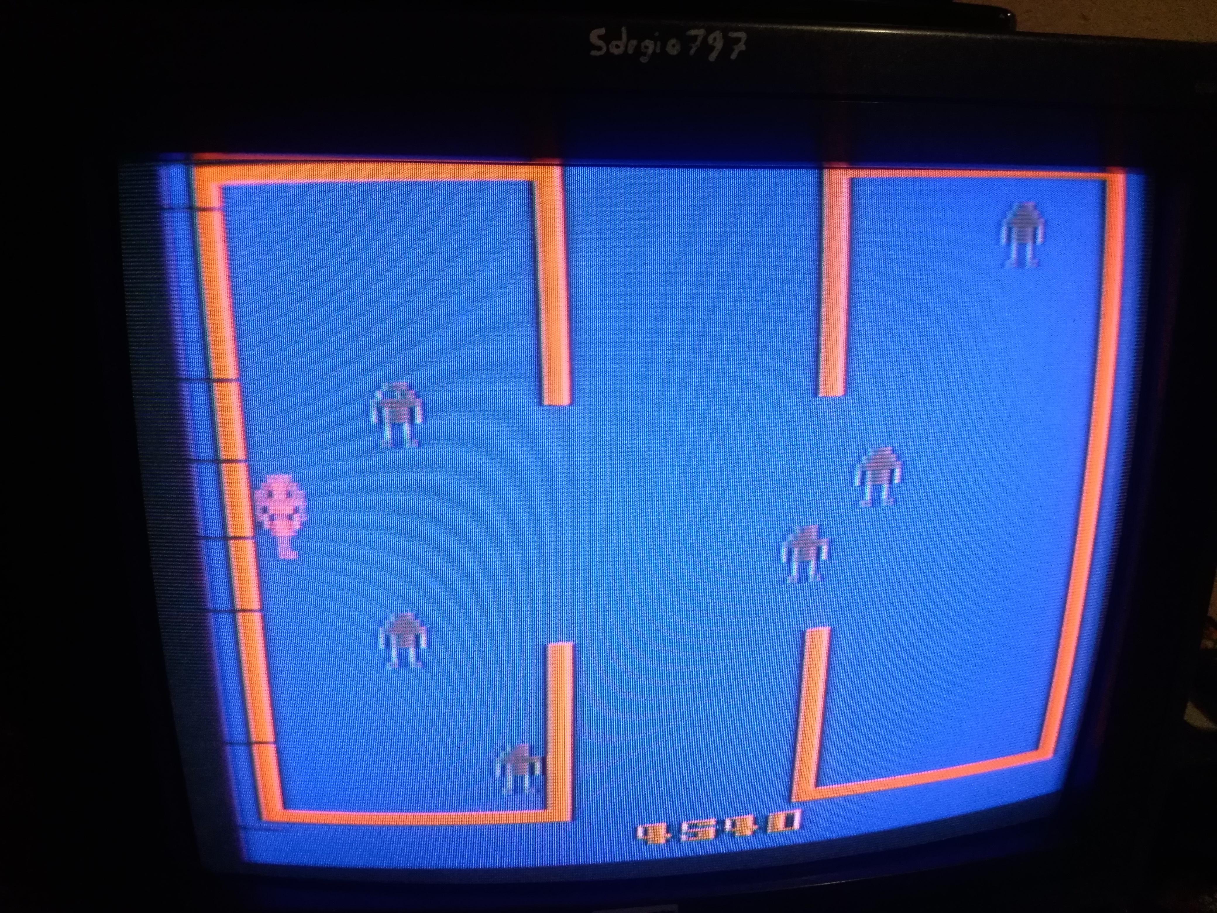 Sdrgio797: Berzerk: Game 9 (Atari 2600) 4,540 points on 2020-06-28 03:32:06