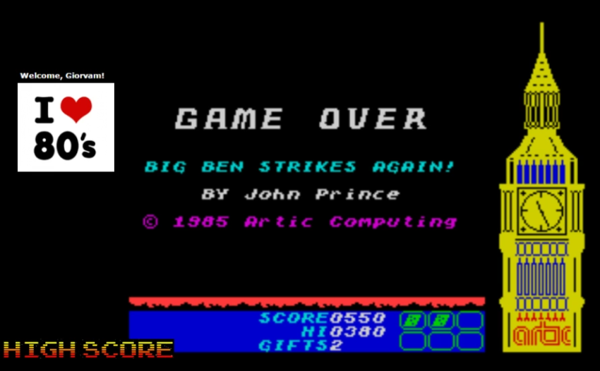 Giorvam: Big Ben Strikes Again (ZX Spectrum Emulated) 550 points on 2016-12-06 10:55:24