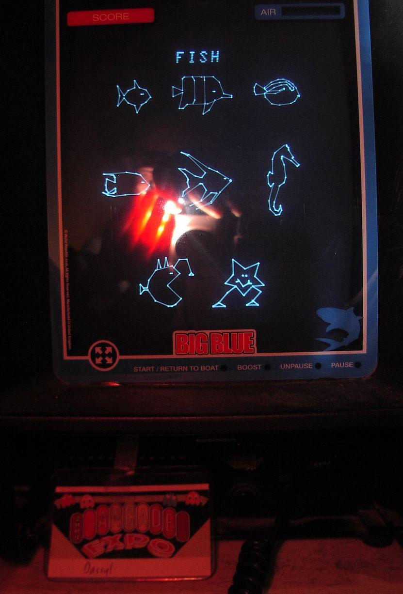 DarrylB: Big Blue [Fish Identified] (Vectrex) 8 points on 2018-11-01 20:33:50