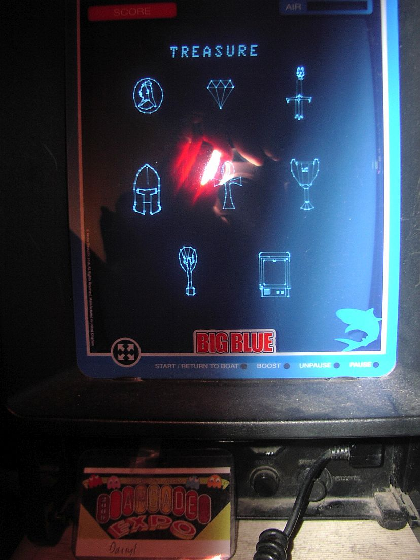 DarrylB: Big Blue [Treasures Captured] (Vectrex) 8 points on 2018-11-01 20:36:18