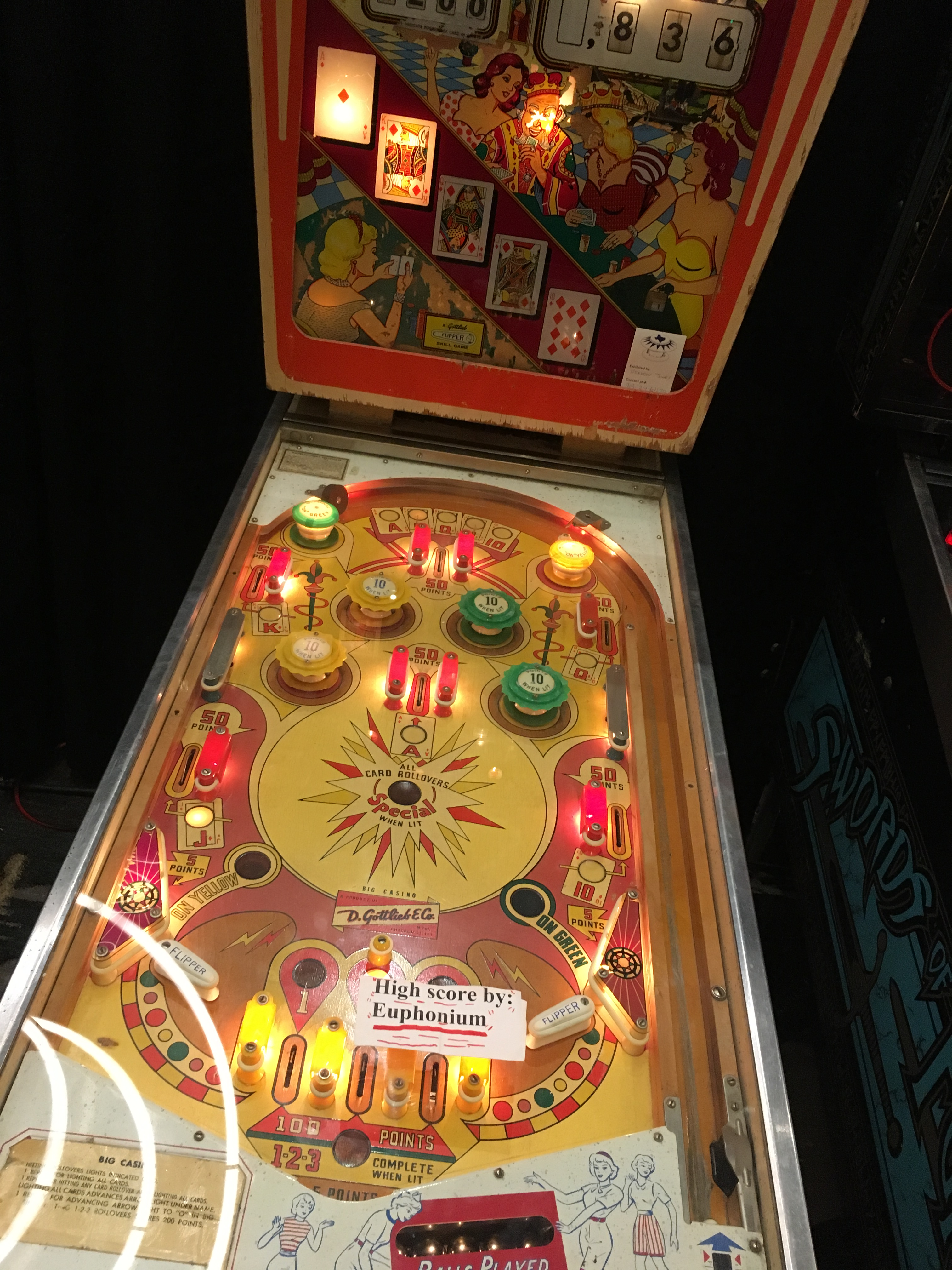 euphonium: Big Casino (Pinball: 5 Balls) 836 points on 2018-03-18 21:21:15