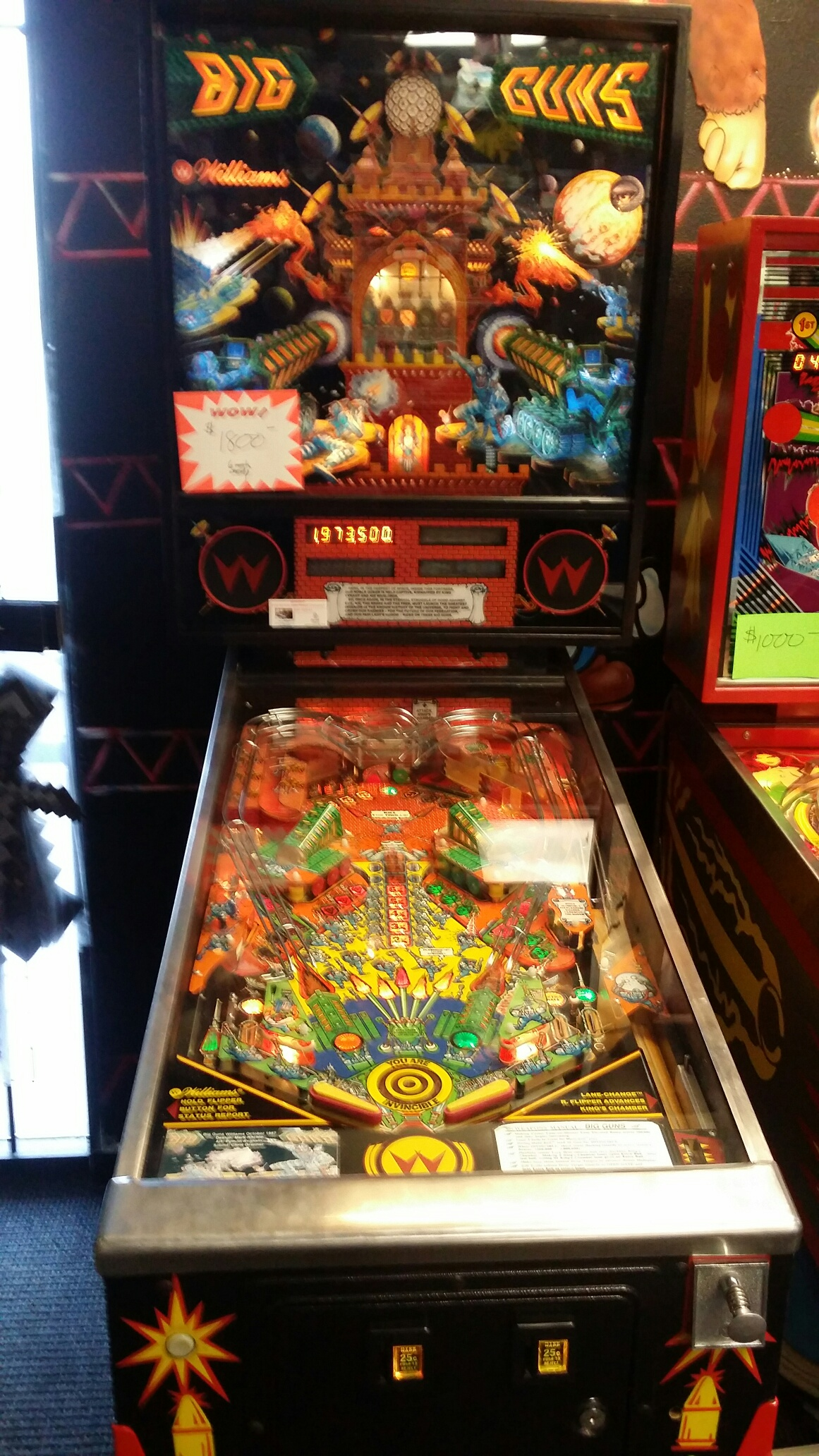 SeanStewart: Big Guns (Pinball: 3 Balls) 1,973,500 points on 2017-07-24 22:58:59