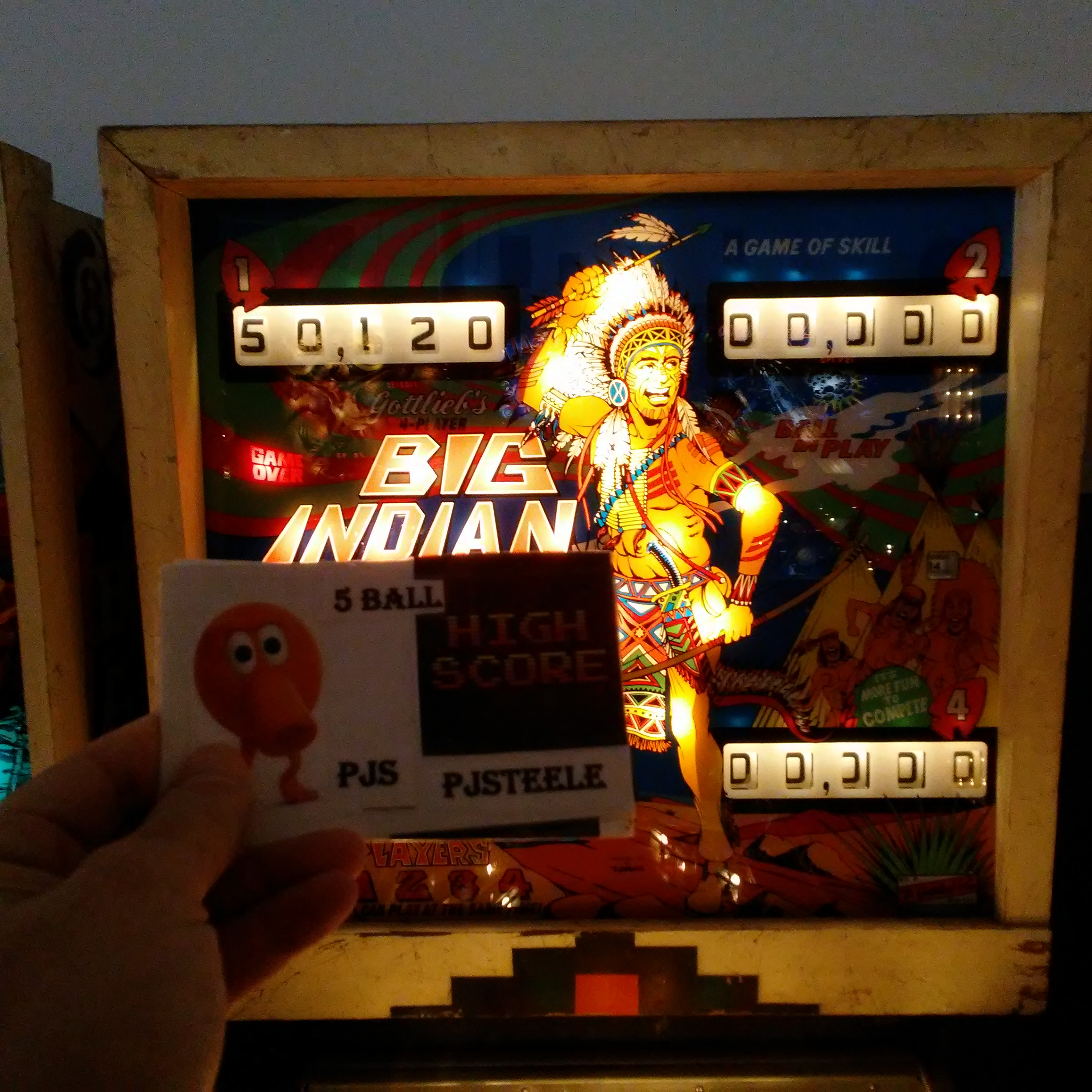 Pjsteele: Big Indian (Pinball: 5 Balls) 50,120 points on 2018-03-04 07:56:23