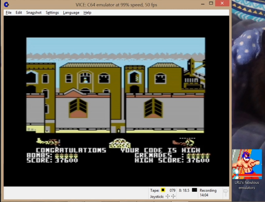 LuigiRuffolo: Biggles (Commodore 64 Emulated) 37,600 points on 2020-07-18 01:51:40
