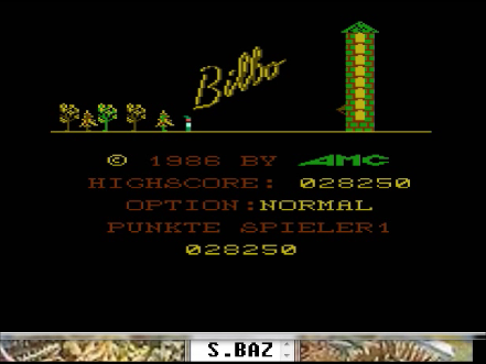 S.BAZ: Bilbo (Atari 400/800/XL/XE Emulated) 28,250 points on 2016-04-14 18:18:21