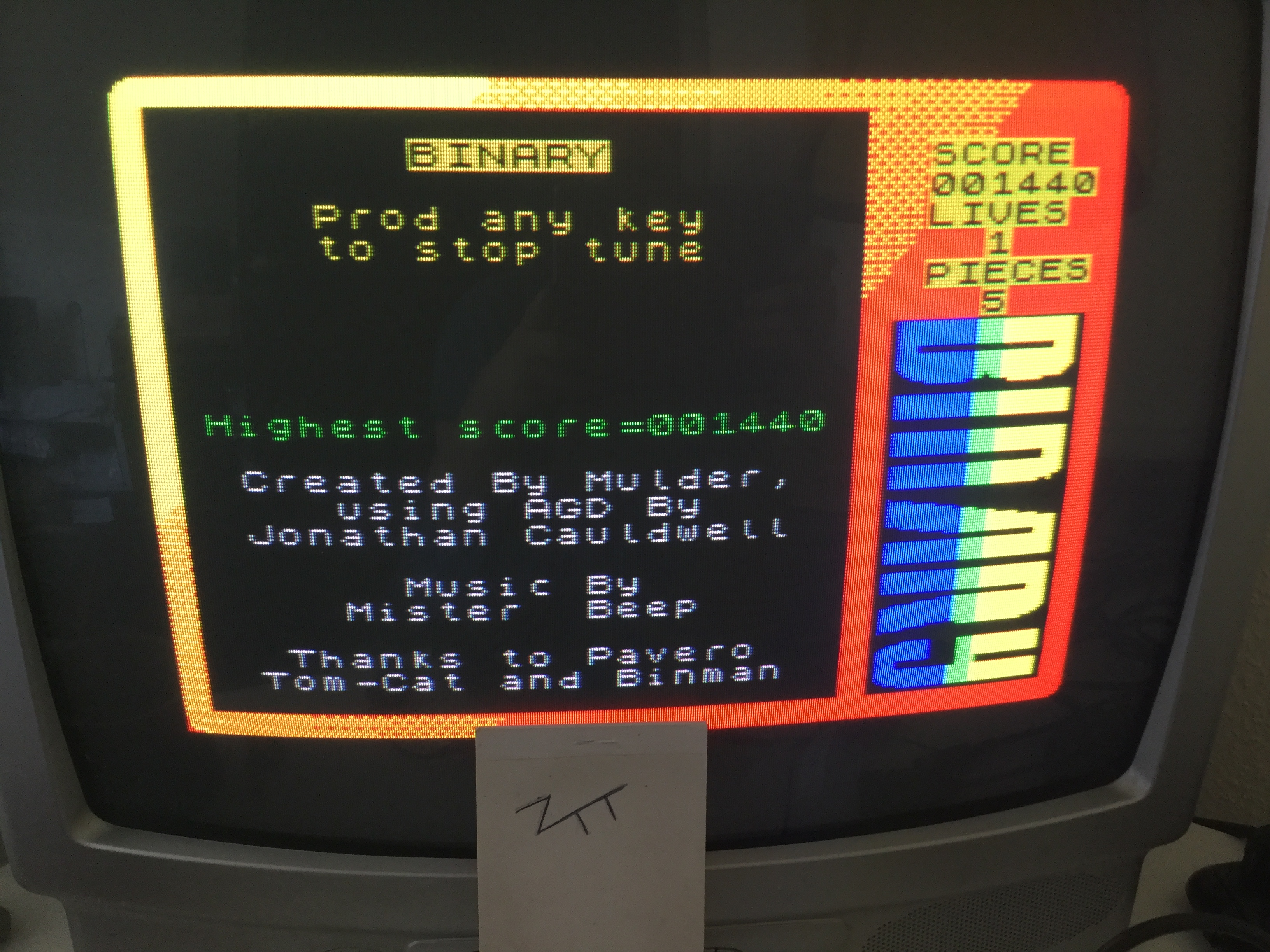 Frankie: Binary [10,000 Points Completion Bonus] (ZX Spectrum) 11,440 points on 2018-05-15 04:45:57