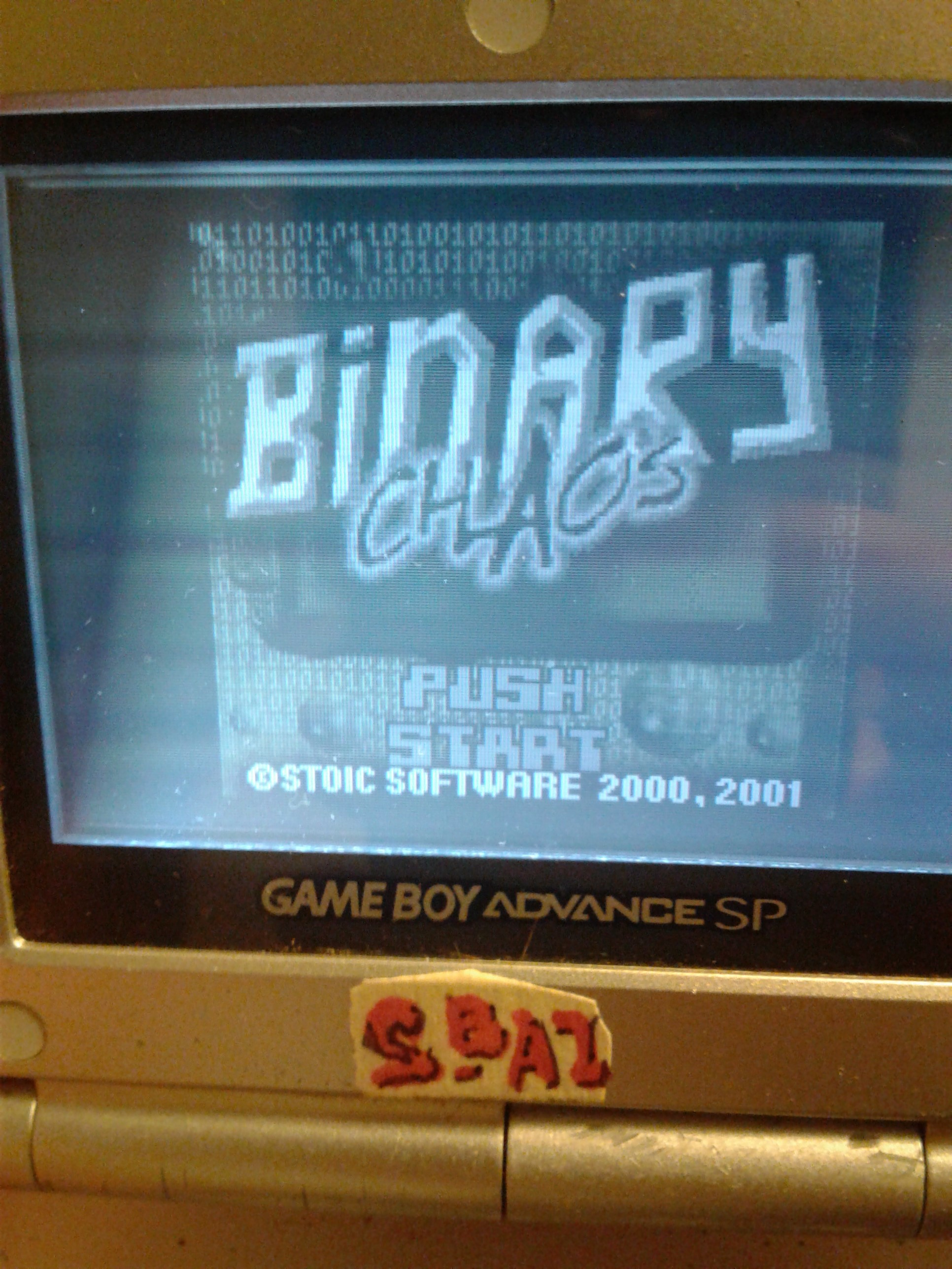 S.BAZ: Binary Chaos (Game Boy Color) 10,040 points on 2020-07-14 18:43:15