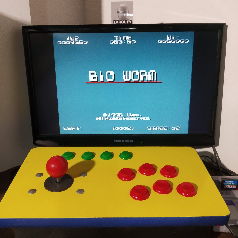 Larquey: Bio Worm [PD] (SNES/Super Famicom Emulated) 4,360 points on 2020-08-17 11:55:51