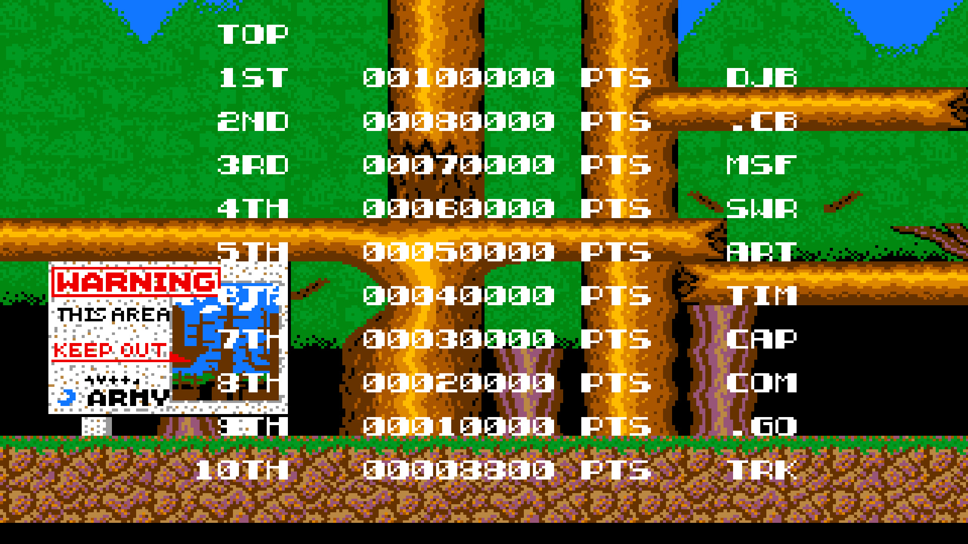 TheTrickster: Bionic Commando (Amiga Emulated) 8,800 points on 2015-07-25 17:22:02