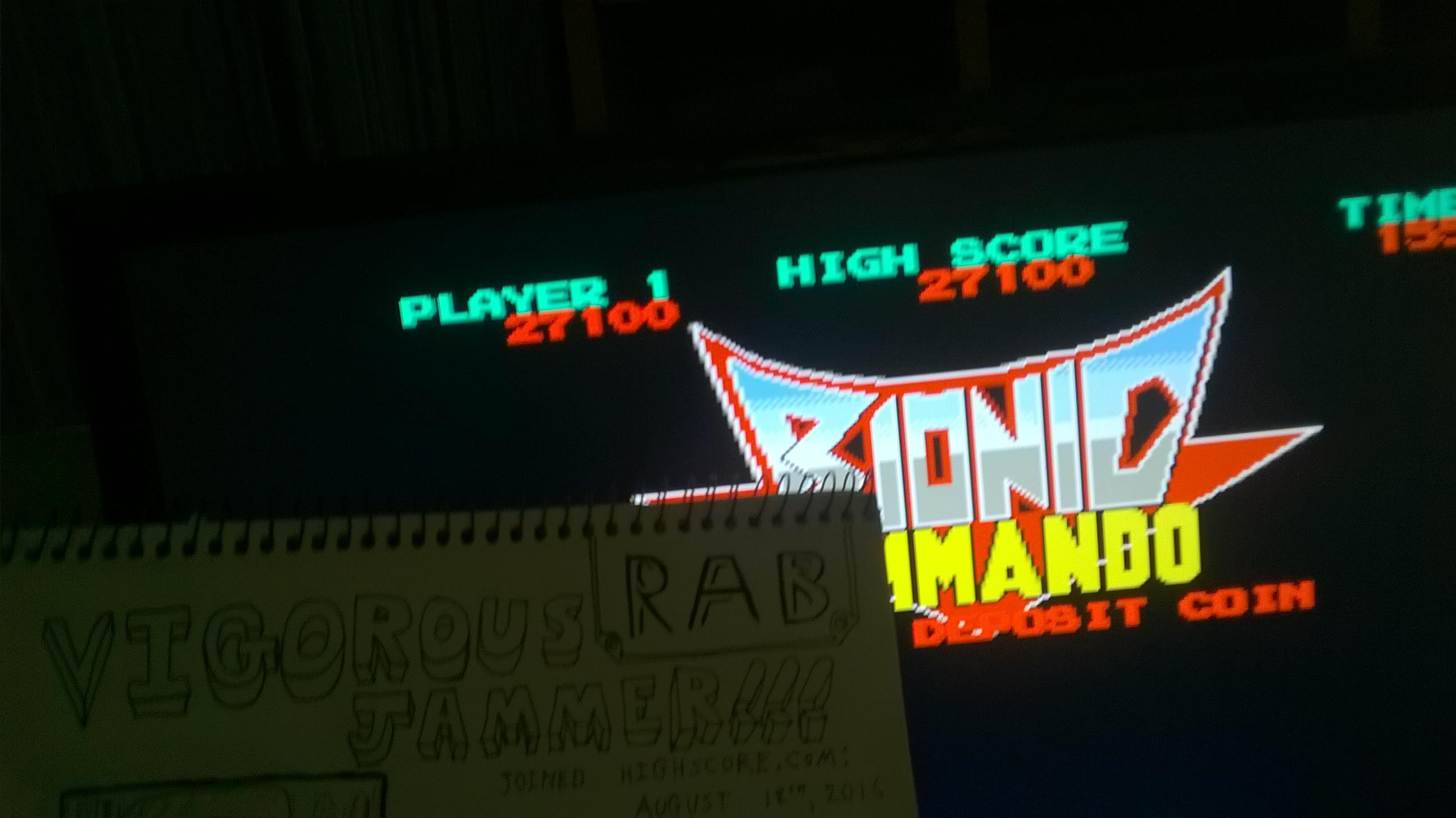 vigorousjammer: Bionic Commando [bionicc] (Arcade Emulated / M.A.M.E.) 27,100 points on 2015-09-05 16:46:07