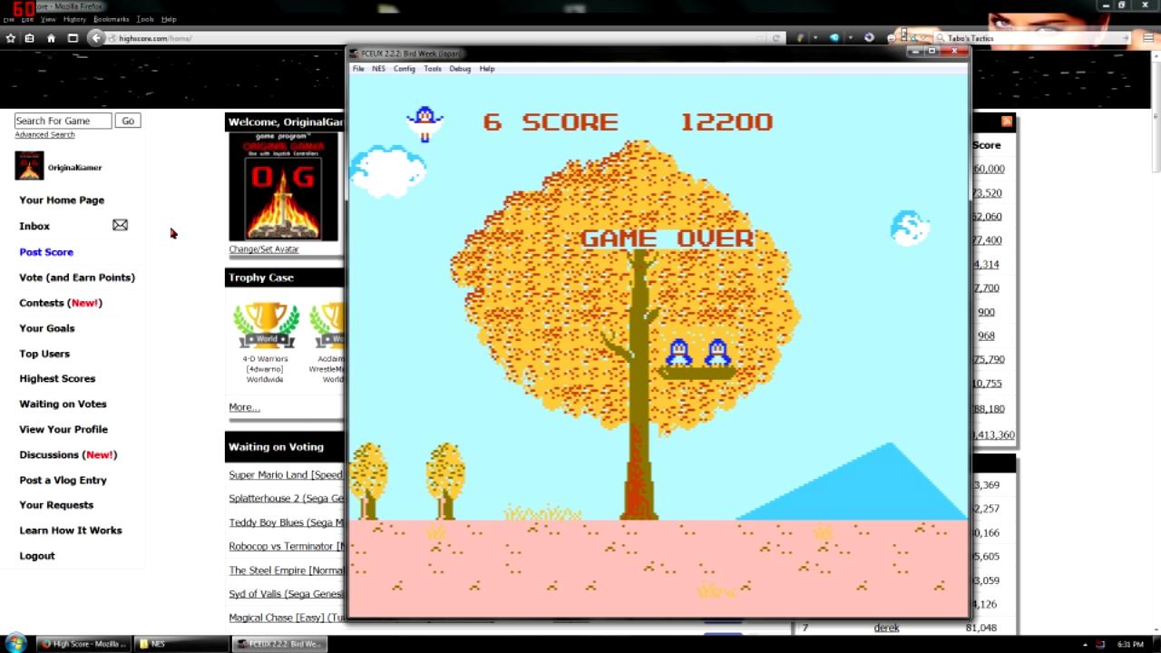 OriginalGamer: Bird Week (NES/Famicom Emulated) 12,200 points on 2015-11-23 18:57:27