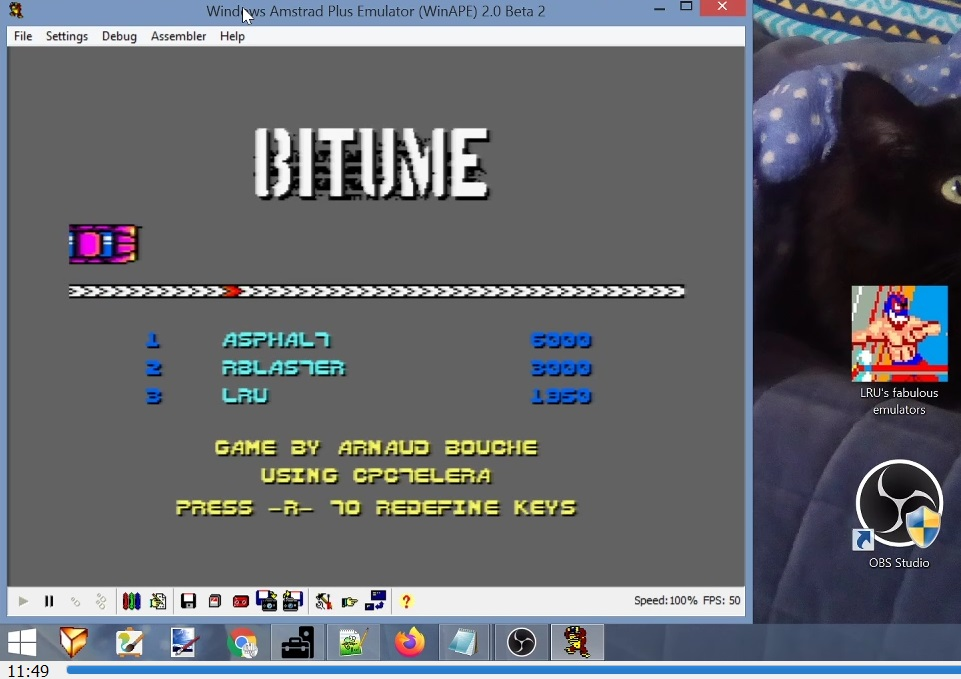 LuigiRuffolo: Bitume (Amstrad CPC Emulated) 1,950 points on 2021-02-10 10:46:52