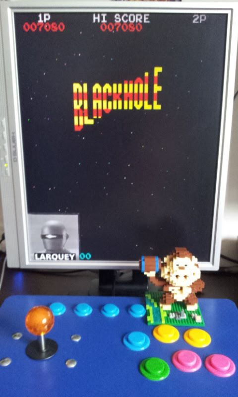 Larquey: Black Hole [blkhole] (Arcade Emulated / M.A.M.E.) 7,080 points on 2017-07-27 05:35:50
