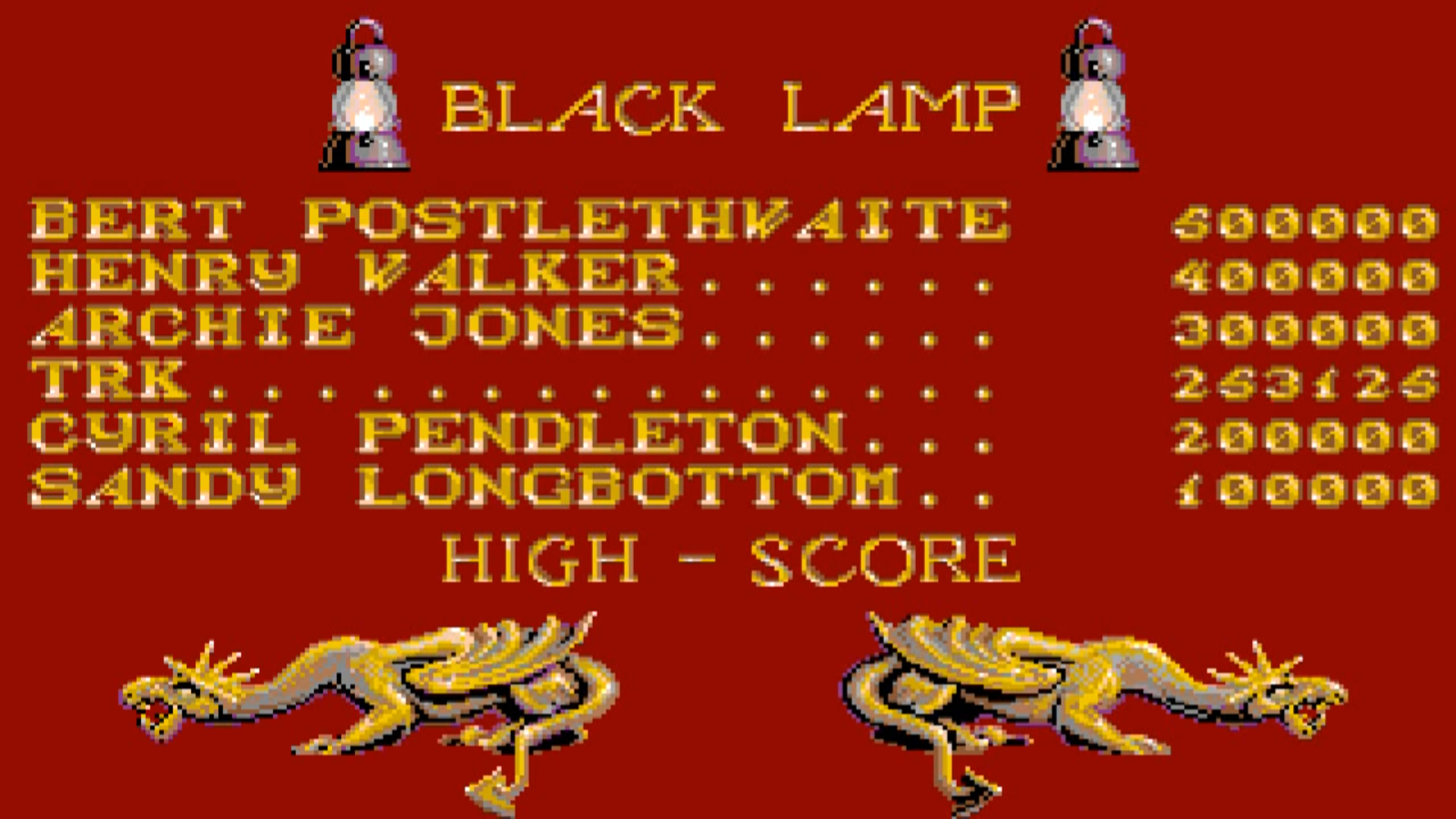 TheTrickster: Black Lamp (Amiga Emulated) 253,125 points on 2015-08-09 07:33:06