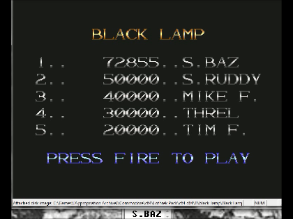 S.BAZ: Black Lamp (Commodore 64 Emulated) 72,855 points on 2016-06-12 17:07:48