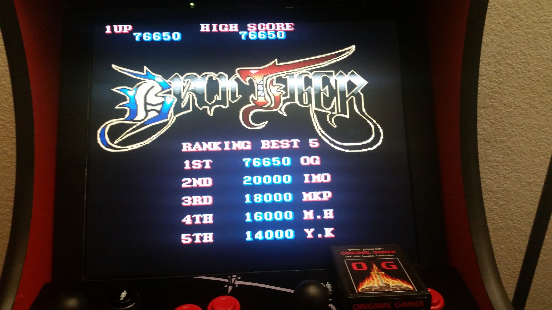 OriginalGamer: Black Tiger (Jamma Pandora