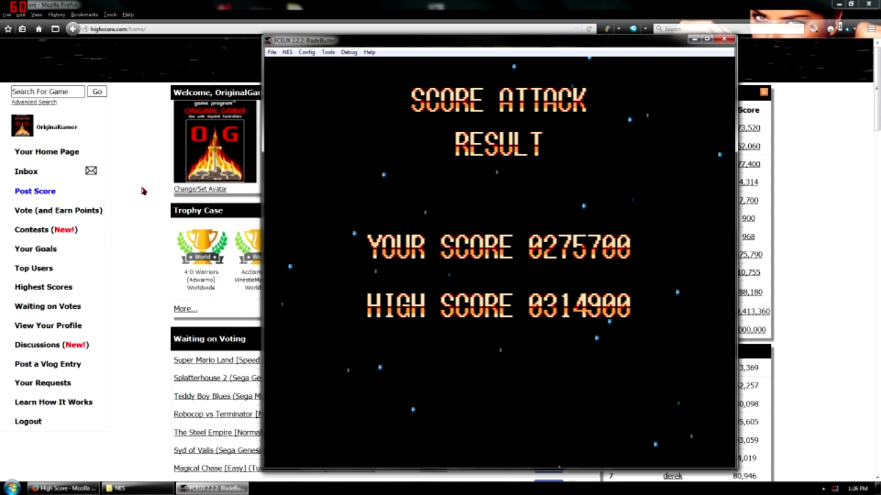 OriginalGamer: Blade Buster [2 min] (NES/Famicom Emulated) 275,700 points on 2015-11-16 00:10:51