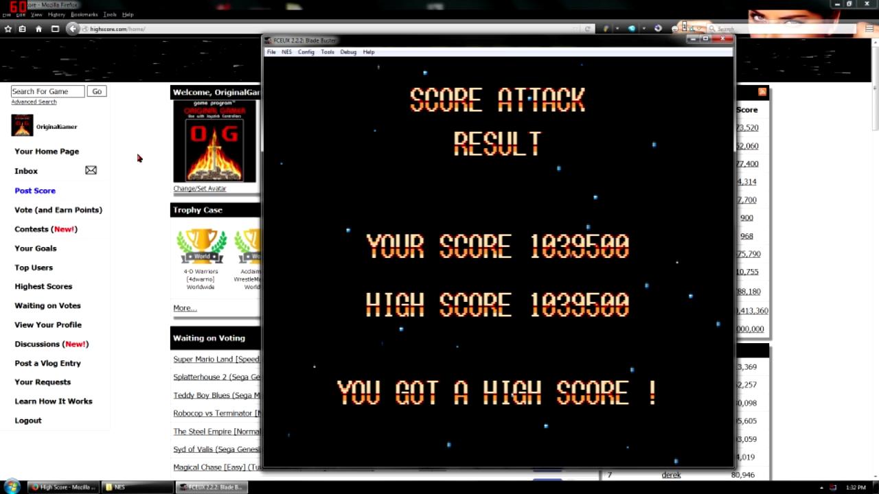 OriginalGamer: Blade Buster [5 min] (NES/Famicom Emulated) 1,039,500 points on 2015-11-16 00:13:05