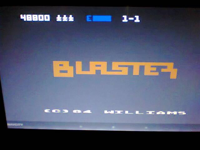 ecworiginal: Blaster [Start 1-1] (Atari 400/800/XL/XE Emulated) 48,800 points on 2016-04-30 07:28:49