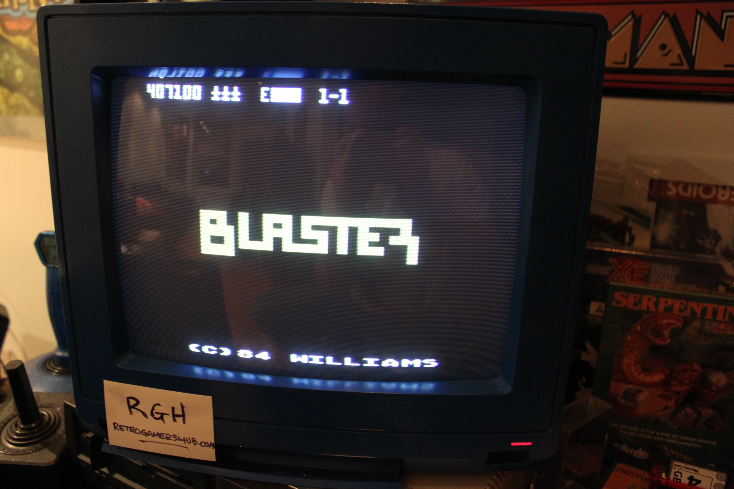 RetroGamersHub: Blaster [Start 1-1] (Atari 400/800/XL/XE) 407,100 points on 2017-07-05 23:43:14