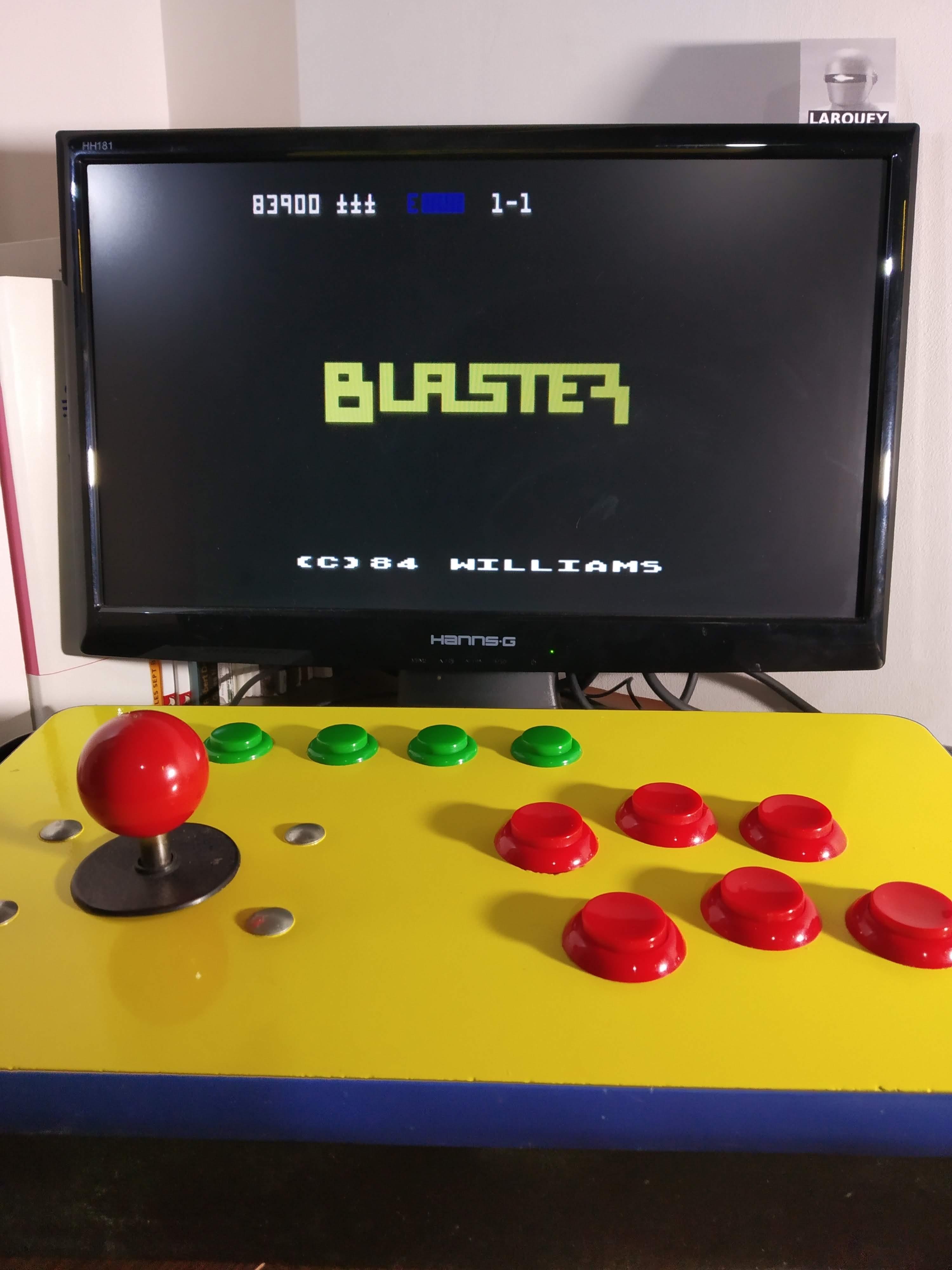 Larquey: Blaster [Start 1-1] (Atari 400/800/XL/XE Emulated) 83,900 points on 2019-12-09 11:55:11