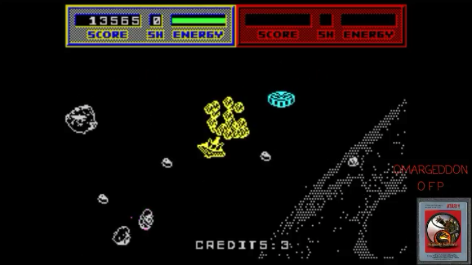 omargeddon: Blasteroids [1 Life] (ZX Spectrum Emulated) 13,565 points on 2017-05-13 22:50:47