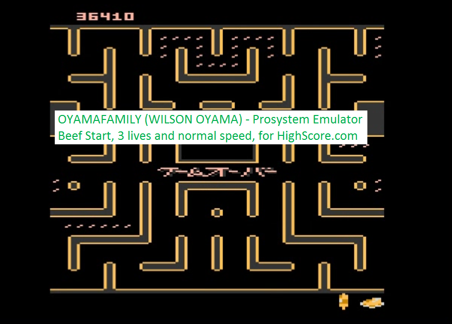oyamafamily: Bleach Pac-Man: Beef Start (Atari 7800 Emulated) 36,410 points on 2016-02-22 19:01:58