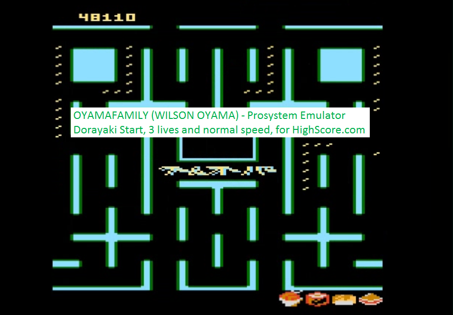oyamafamily: Bleach Pac-Man: Dorayaki Start (Atari 7800 Emulated) 48,110 points on 2016-02-22 18:58:58