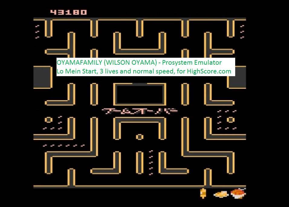 oyamafamily: Bleach Pac-Man: Lo Mein Start (Atari 7800 Emulated) 43,180 points on 2016-02-22 19:10:26