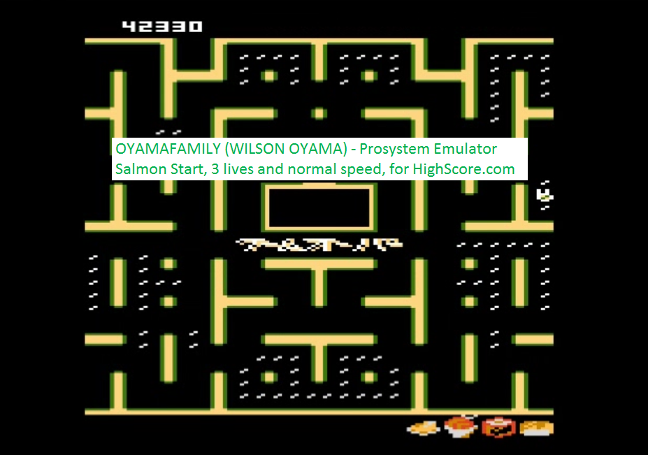 oyamafamily: Bleach Pac-Man: Salmon Start (Atari 7800 Emulated) 42,330 points on 2016-02-22 19:09:38