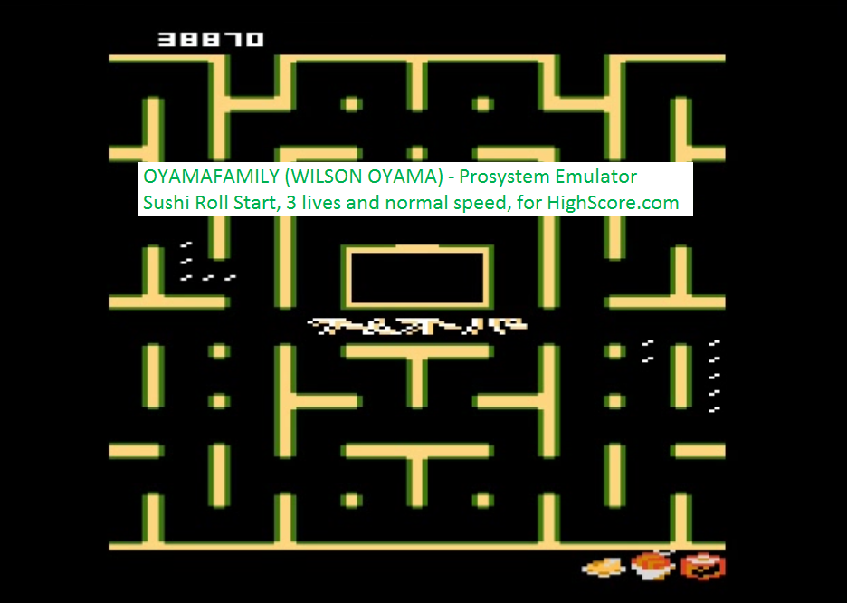 oyamafamily: Bleach Pac-Man: Sushi Roll Start (Atari 7800 Emulated) 38,870 points on 2016-02-22 18:56:34