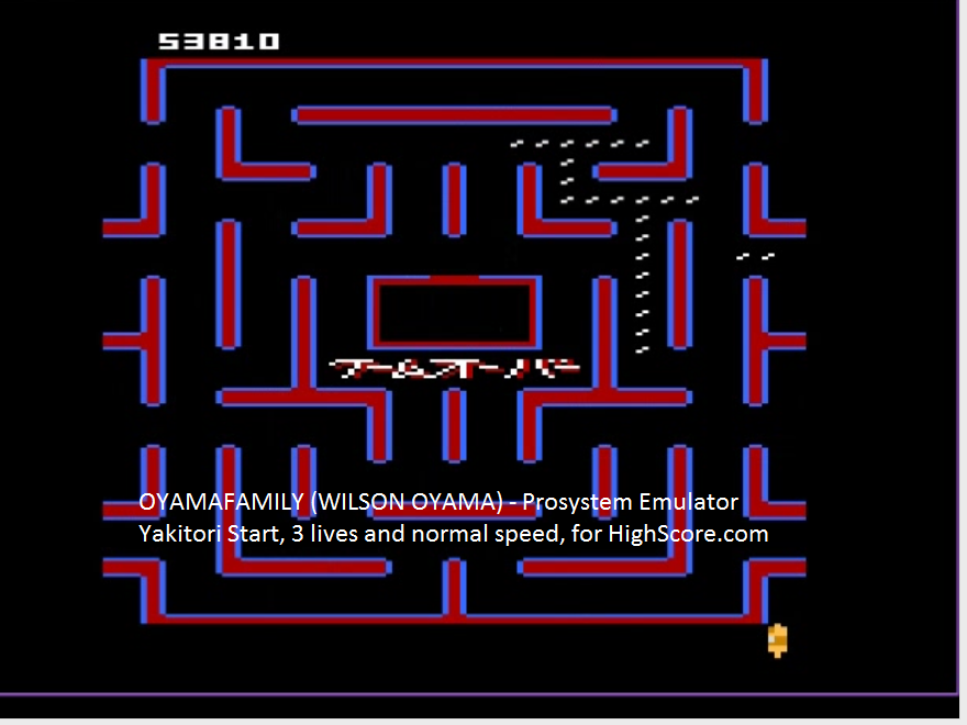 oyamafamily: Bleach Pac-Man: Yakitori Start (Atari 7800 Emulated) 53,810 points on 2016-02-22 18:54:11