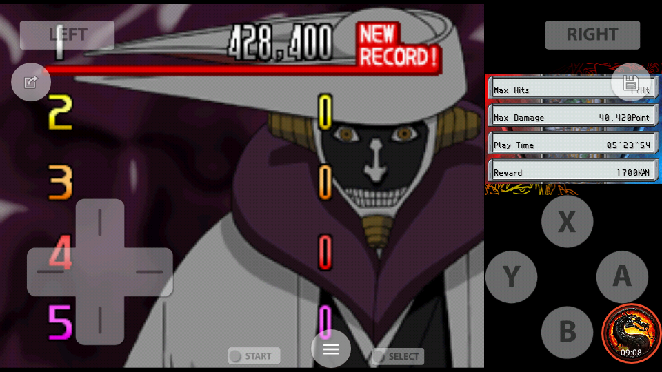 omargeddon: Bleach: The Blade Of Fate: Arcade Mode: Kurotsuchi [Normal] (Nintendo DS Emulated) 428,400 points on 2020-10-08 14:05:31