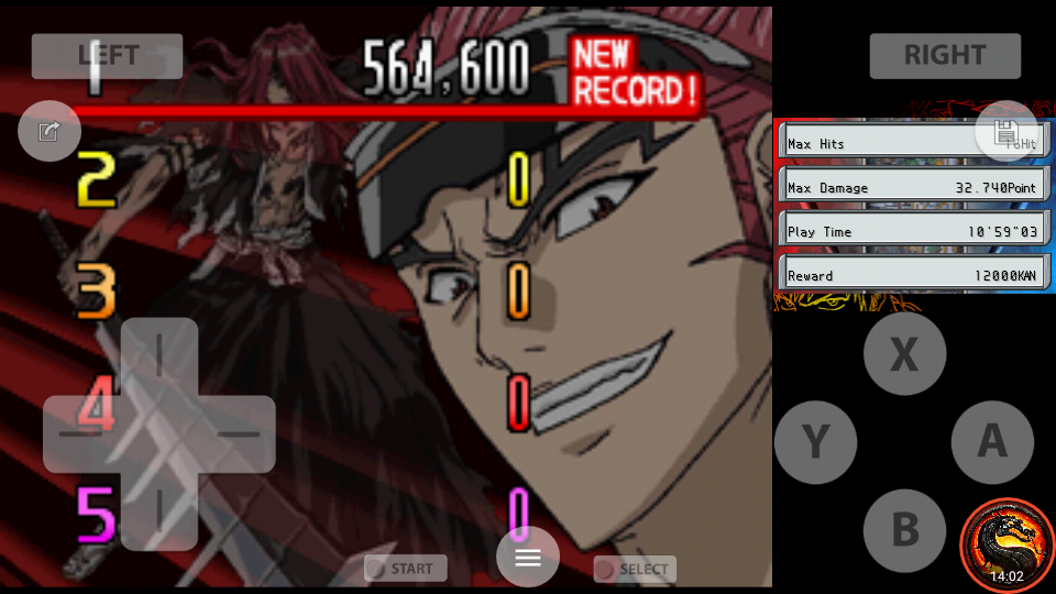 omargeddon: Bleach: The Blade Of Fate: Arcade Mode: Renji [Normal] (Nintendo DS Emulated) 564,600 points on 2020-10-06 17:10:01